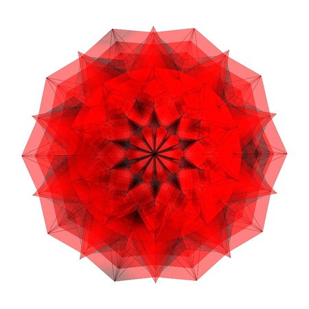 magnificence: Abstract Ornamental Red Diamond Star On White