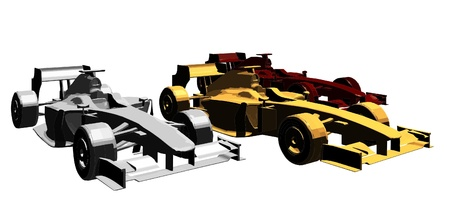 formula one: Golden Silver Bronze Race Car