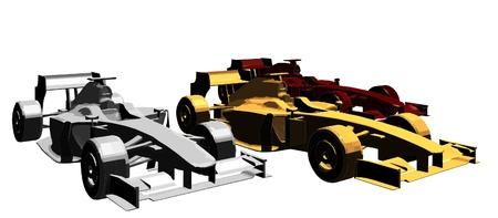 formula one car: Golden Silver Bronze Race Car