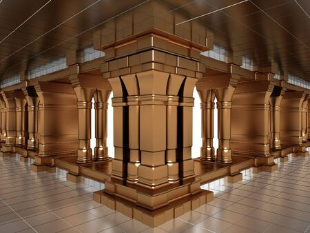 Golden Antique Pillars In The Hall Of Silver photo
