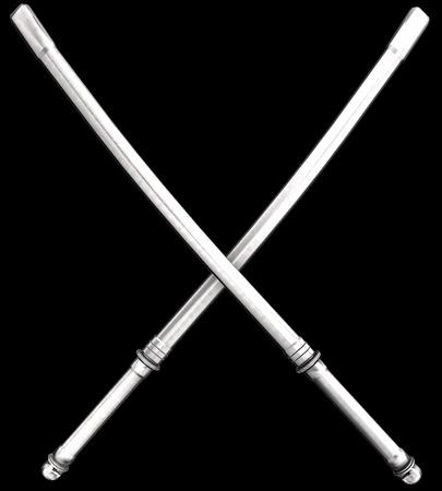sheath: Samurai Katana With Sheath On Black