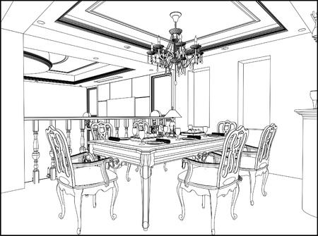 luster: Dining Room Illustration