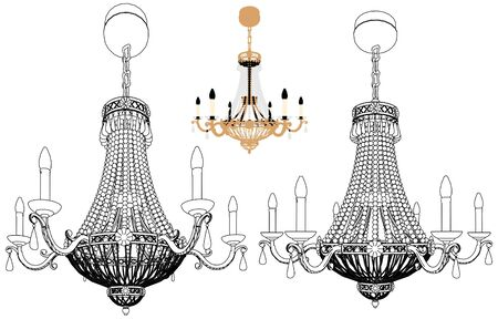 Luster Chandelier Stock Vector - 11959787