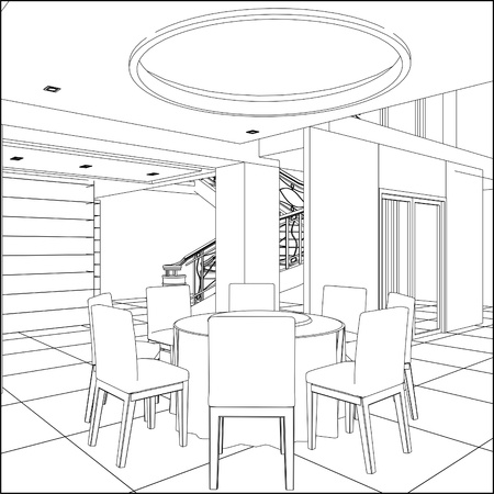 fine dining: Restaurant Table Set Illustration