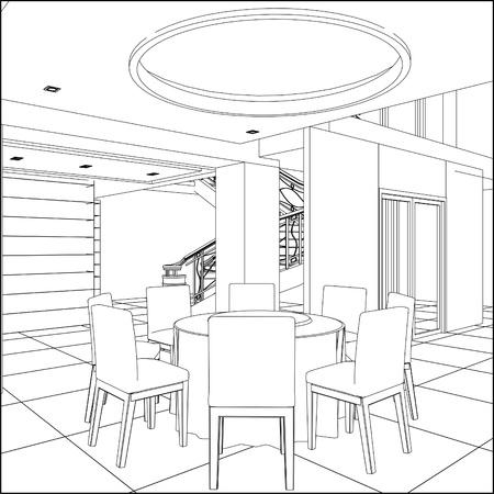 Restaurant Table Set 矢量图像