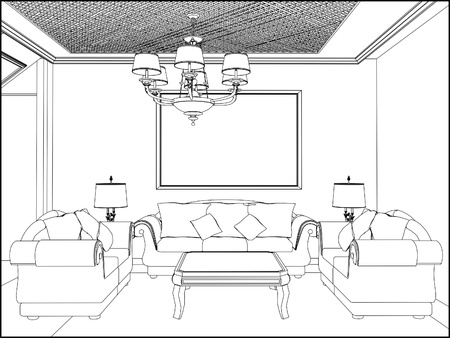 living room design: Living Room Illustration