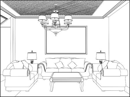 cozy: Living Room Illustration