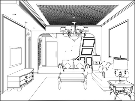 interior: Living Room Illustration