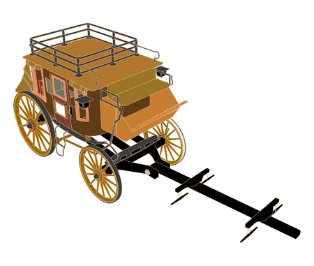 wagon wheel: Stagecoach Without Horses Illustration