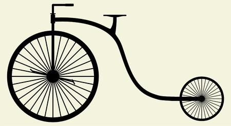 Altes Fahrrad Silhouette Illustration