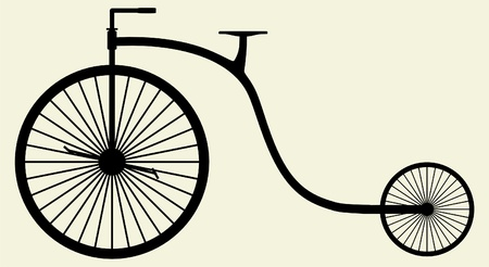 handlebar: Old Bicycle Silhouette Illustration