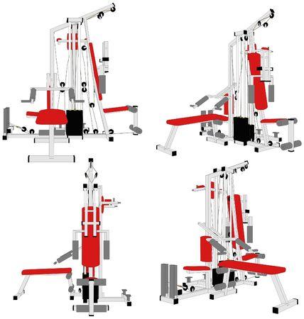 gym equipment: Home Fitness Gym Simulator Per Allenamento