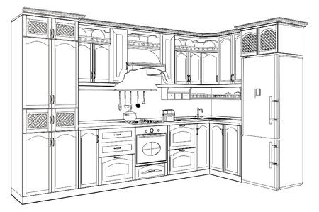 traditional custom: Wooden Kitchen