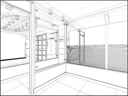 Abstract Interior Construction Vector