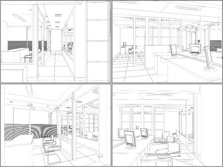 Interior Office-Zimmer Illustration