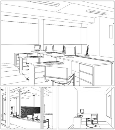 office interior: Interior Office Rooms