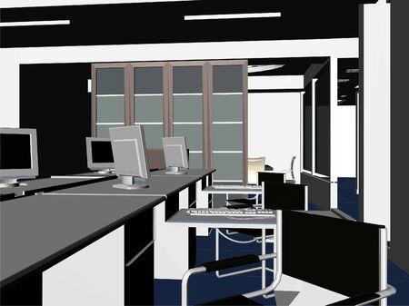 modern office: Interior Office Room