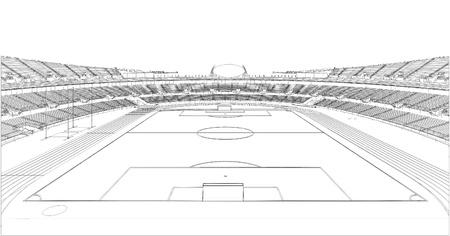 football match: Calcio Soccer Stadium