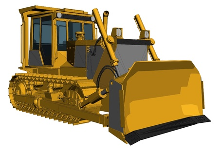 heavy duty: Bulldozer Vector