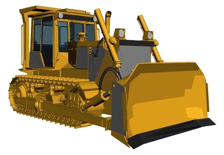 Vecteur Bulldozer Banque d'images - 12947294