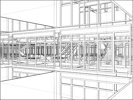 Abstract Construction  Illustration
