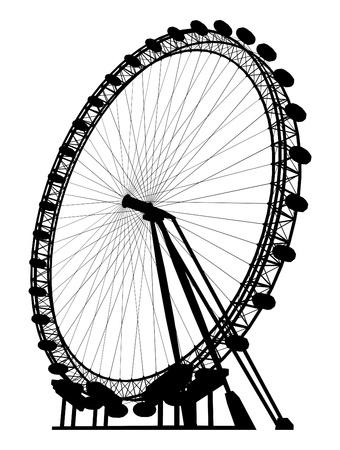 Carousel Silhouette Stock Vector - 13261448