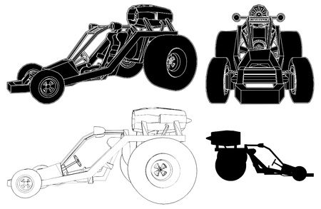 exotic car: Fast Race Land Transporte Car Illustration