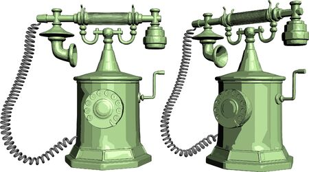 old telephone: The Old Phone Illustration
