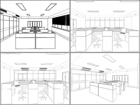 mobiliario de oficina: Habitaciones interior de la oficina
