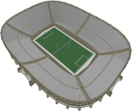 Football Soccer Stadium Stock Vector - 13719896