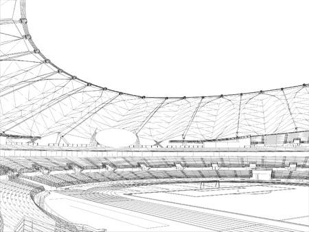 soccer stadium: F�tbol estadio de f�tbol Vectores