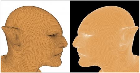 pas d accord: Deux hommes avec des oreilles pointues en d�saccord Illustration