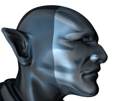 pointy: Android Super Hero With A Pointed Ears Stock Photo