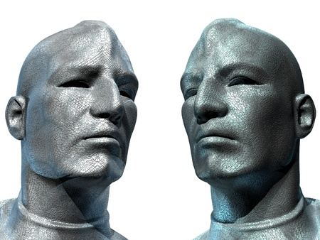 Two Androids Look To The Future  photo