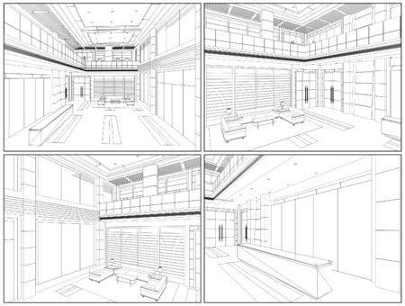 Moderne Halle Illustration