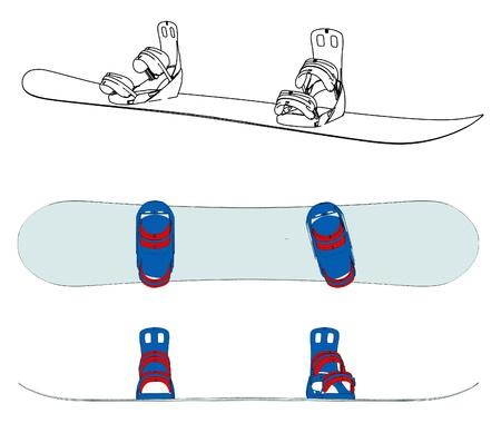 snowboarder: Snowboard