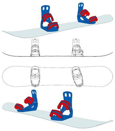 Snowboard Stock Vector - 14284517