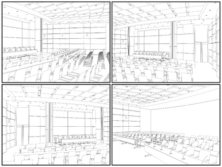 Conference Hall Interior Stock Vector - 14413242