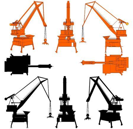heavy load: Shipyard Crane