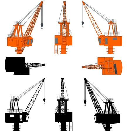 Shipyard Crane Without Stand