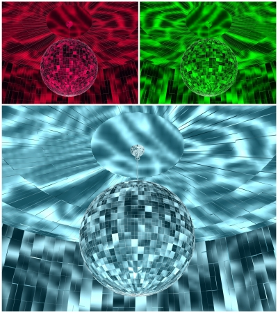 RGB Color Disco Ball In Room photo