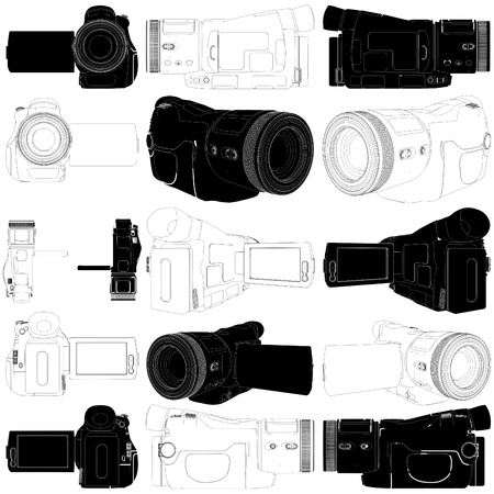 High-Definition Video Camera Vector