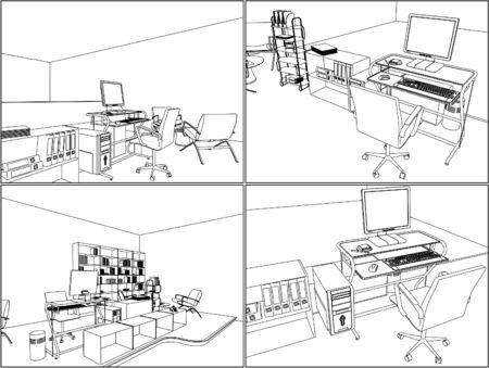 Inter Office Room  Stock Vector - 16946605