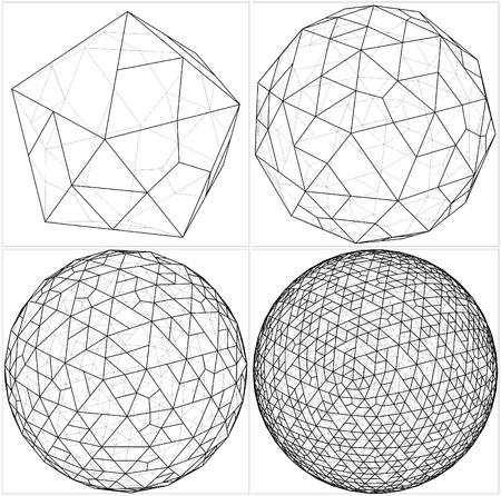 tetraedro: Da Icosaedro alla sfera di pallone