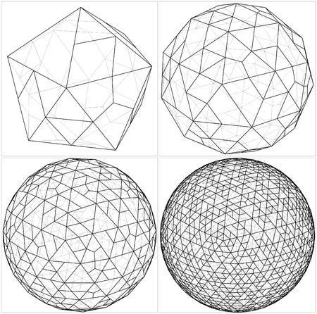 icosahedron: From Icosahedron To The Ball Sphere Lines