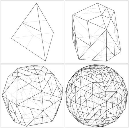 tetraedro: Da Tetraedro alla sfera di pallone