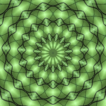 hypnosis: Green Black Stripe Radial Background