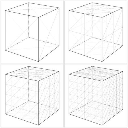 solid figure: Cube Dal semplice al forma complicata