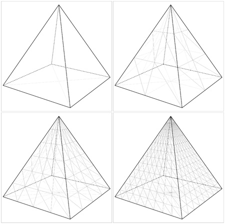 Pyramid From The Simple To The Complicated Shape Vettoriali
