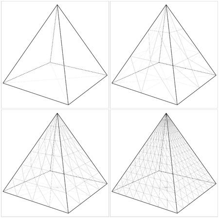 Pirámide de lo simple a la forma complicada Foto de archivo - 19498787